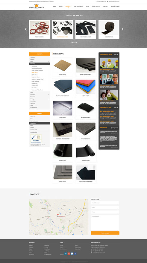 Honeycrown Website Design
